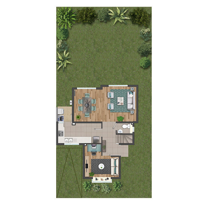 Planta Casa Ibiza - Condominio Laguna Norte
