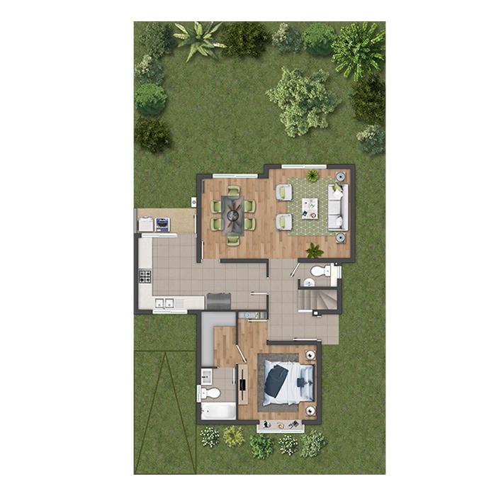 Planta Casa Martinica - Condominio Laguna Norte