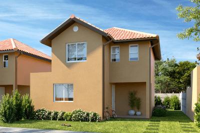 Planta Casa Antuco - Condominio Casas del Rahue